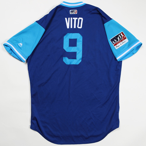"Photo of Drew ""Vito"" Butera Kansas City Royals Game-Used Jersey 2018 Players' Weekend Jersey"