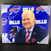 Bills - Head Coach Sean McDerrmott Signed 16X20 Canvas Print