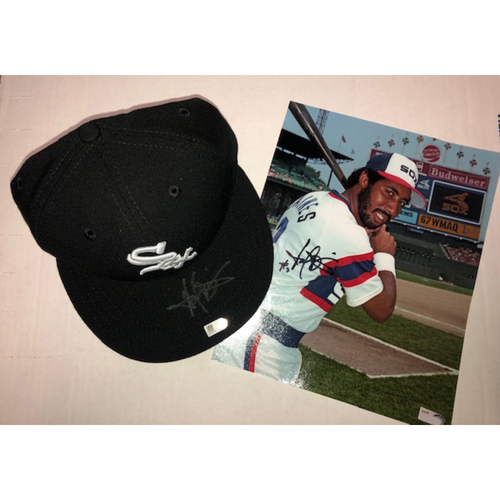 Photo of HOF Special: Harold Baines Autographed Cap and Photo