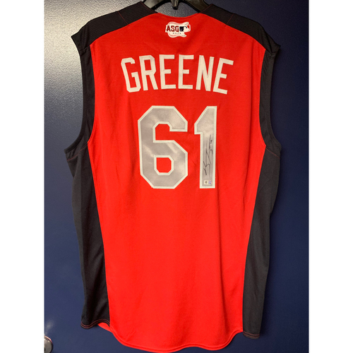 Photo of Shane Greene 2019 Major League Baseball Workout Day Autographed Jersey