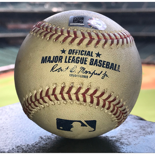 Photo of Game-Used Baseball: 8/6/19 Astros vs Rockies, German Marquez to Carlos Correa (Foul)