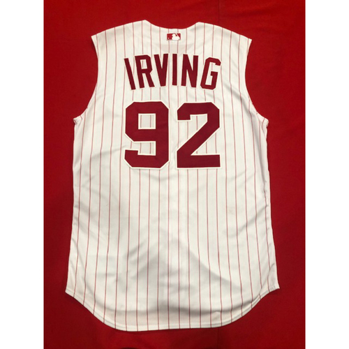 Photo of Nate Irving -- Game-Used 1995 Throwback Jersey & Pants -- D-backs vs. Reds on Sept. 8, 2019 -- Jersey Size 46 / Pants Size