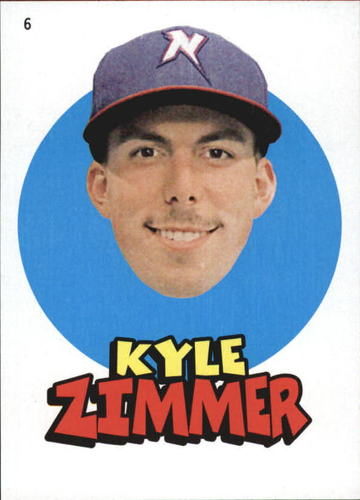 Photo of 2016 Topps Heritage Minors '67 Topps Stickers #6 Kyle Zimmer