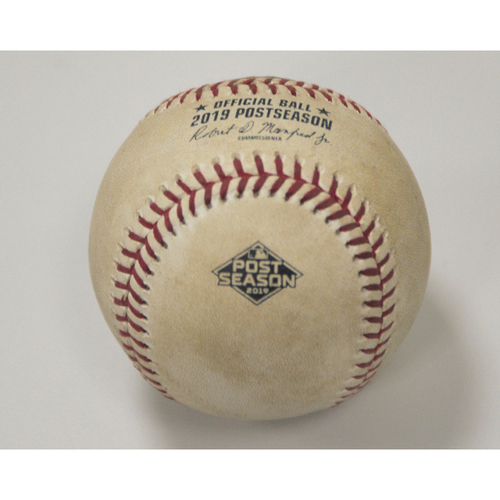 Photo of AL Wild Card Game - Game-Used Baseball: Pitcher: Diego Castillo, Batters: Josh Phegley (Strikeout), Marcus Semien (Foul) Bot 7 - 10/2/19 vs. TB
