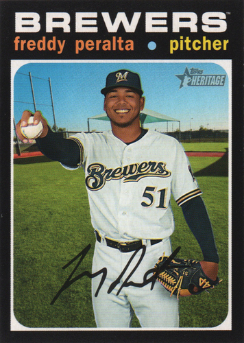 Photo of 2020 Topps Heritage #392 Freddy Peralta