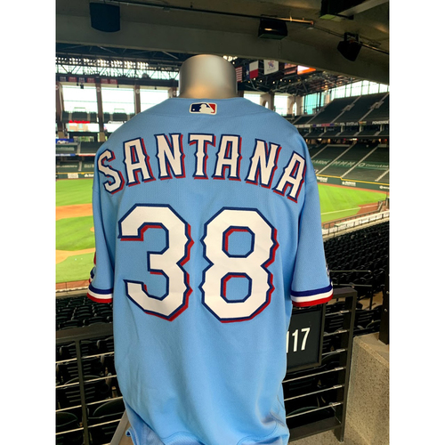 Photo of Danny Santana Game-Used Powder Blue Jersey - 1st Time Worn (7/26/20)