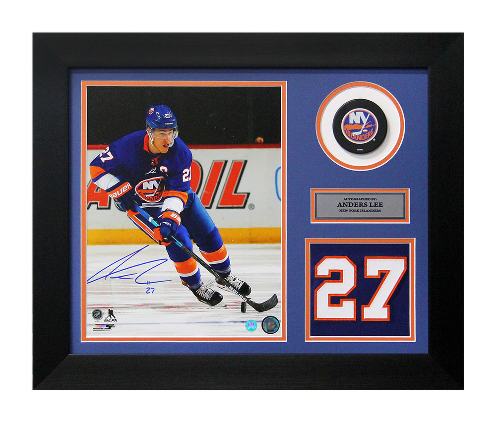 Anders Lee New York Islanders Signed Franchise Jersey Number 20x24 Frame