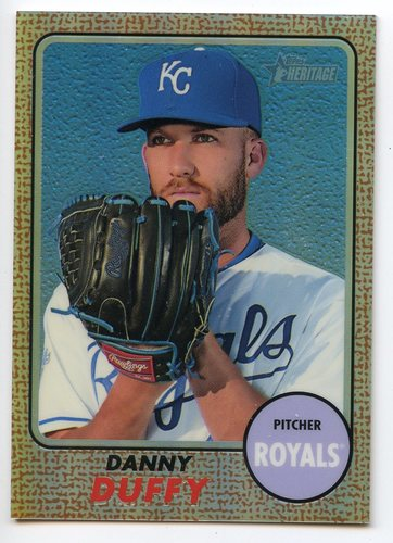 Photo of 2017 Topps Heritage Chrome Refractors #THC474 Danny Duffy