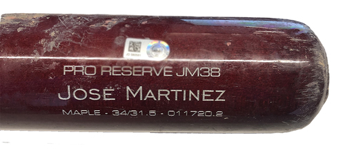 Photo of Willson Contreras Game-Used Cracked Bat -- Michael Lorenzen to Willson Contreras, Double, Bot 5 -- Jose Martinez Model Bat -- Reds vs. Cubs -- 9/10/20
