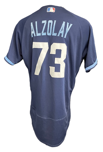 Photo of Adbert Alzolay Game-Used Jersey - City Connect - Cardinals vs. Cubs Game 1 of DH - 9/24/21 - Size 44