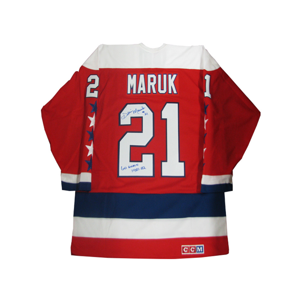 DENNIS MARUK Signed Red Washington Capitals CCM Jersey Inscribed