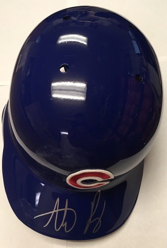 Photo of Anthony Rizzo Autographed Cubs Helmet