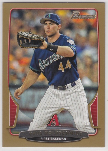 Photo of 2013 Bowman Gold #101 Paul Goldschmidt