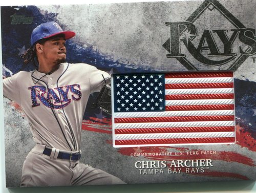 Photo of 2018 Topps Independence Day U.S. Flag Relics #IDMLCAR Chris Archer