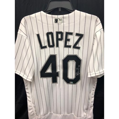 Photo of Reynaldo Lopez Autographed Jersey - Size 46