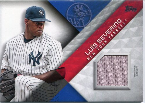 Photo of 2018 Topps Major League Materials #MLMLS Luis Severino -- 2018 All-Star