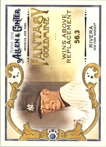 Photo of 2018 Topps Allen and Ginter Fantasy Goldmine #FG9 Mariano Rivera
