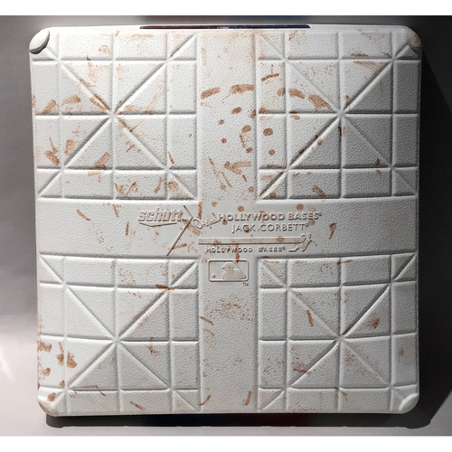 Photo of 2018 NLDS Game-Used Base (G1 & 2) - Colorado Rockies at Milwaukee Brewers - 3rd Base Used In Innings 1-3  - 10/4/2018- 10/5/2018