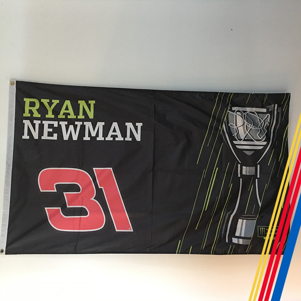 NASCAR'S Ryan Newman Autographed 2017 MENCS Playoff Race Displayed#31 flag!