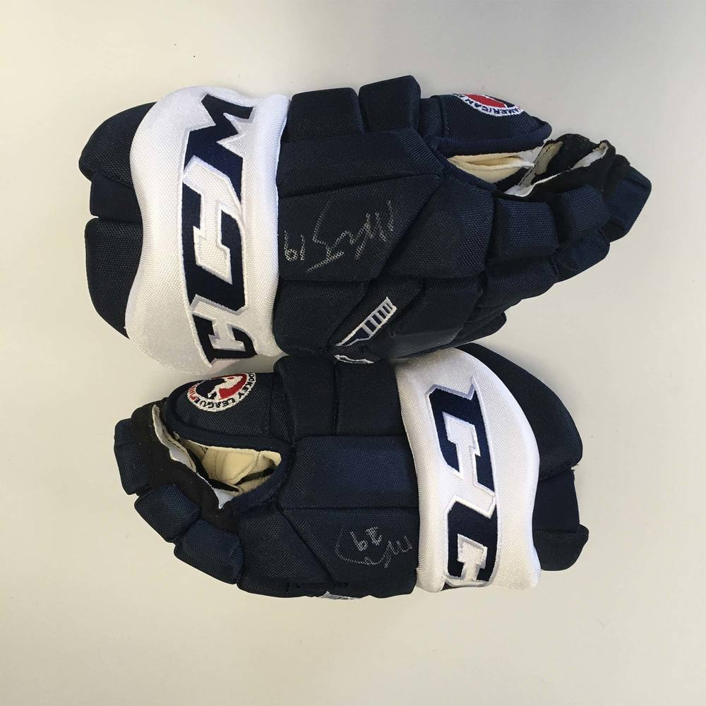 2019 Lexus AHL All-Star Classic Gloves Worn and Signed by #19 Michael Bunting