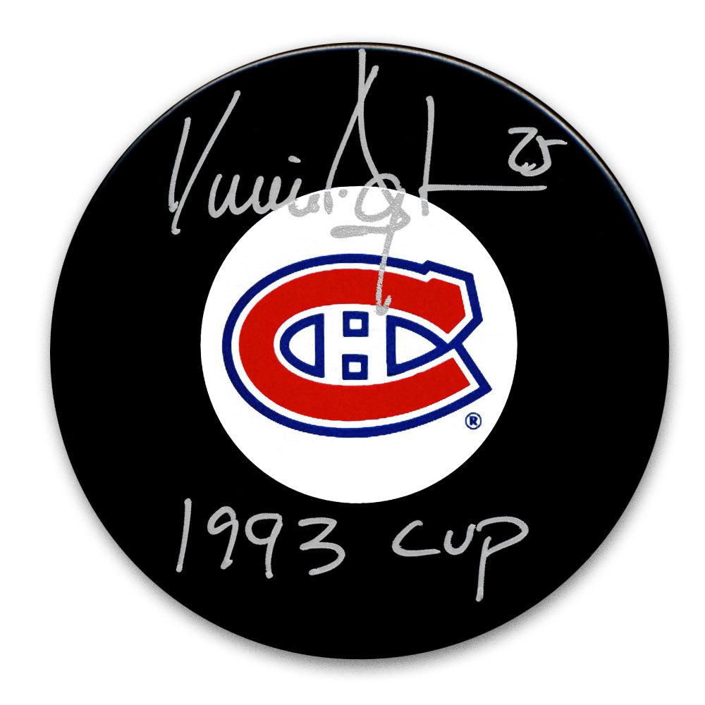 Vincent Damphousse Montreal Canadiens 1993 Cup Autographed Puck