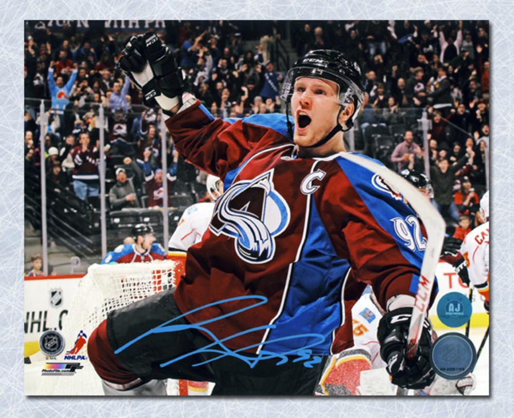 Gabriel Landeskog Colorado Avalanche Autographed Goal Celebration 8x10 Photo