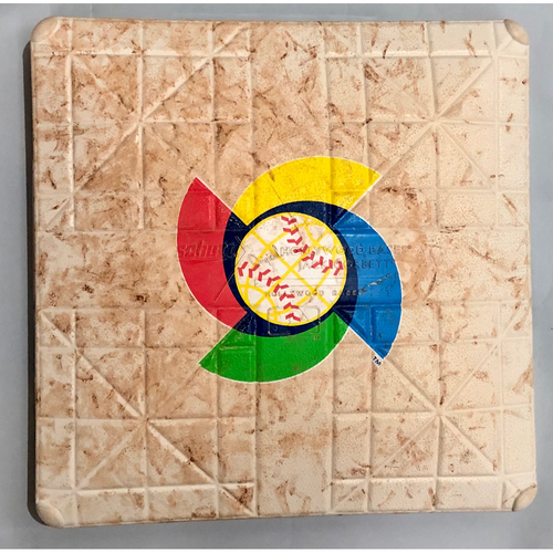 Photo of 2017 World Baseball Classic Game Used Base- 2nd Base (Italy at Puerto Rico)