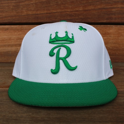 Photo of Game-Used Saint Patrick's Day Cap: Jorge Bonifacio (KC @ SF - 3/17/19 - Size 7 1/8)
