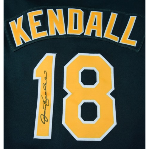 Photo of Rays Baseball Foundation Auction: Jason Kendall Autographed Oakland A's Jersey - Size 48