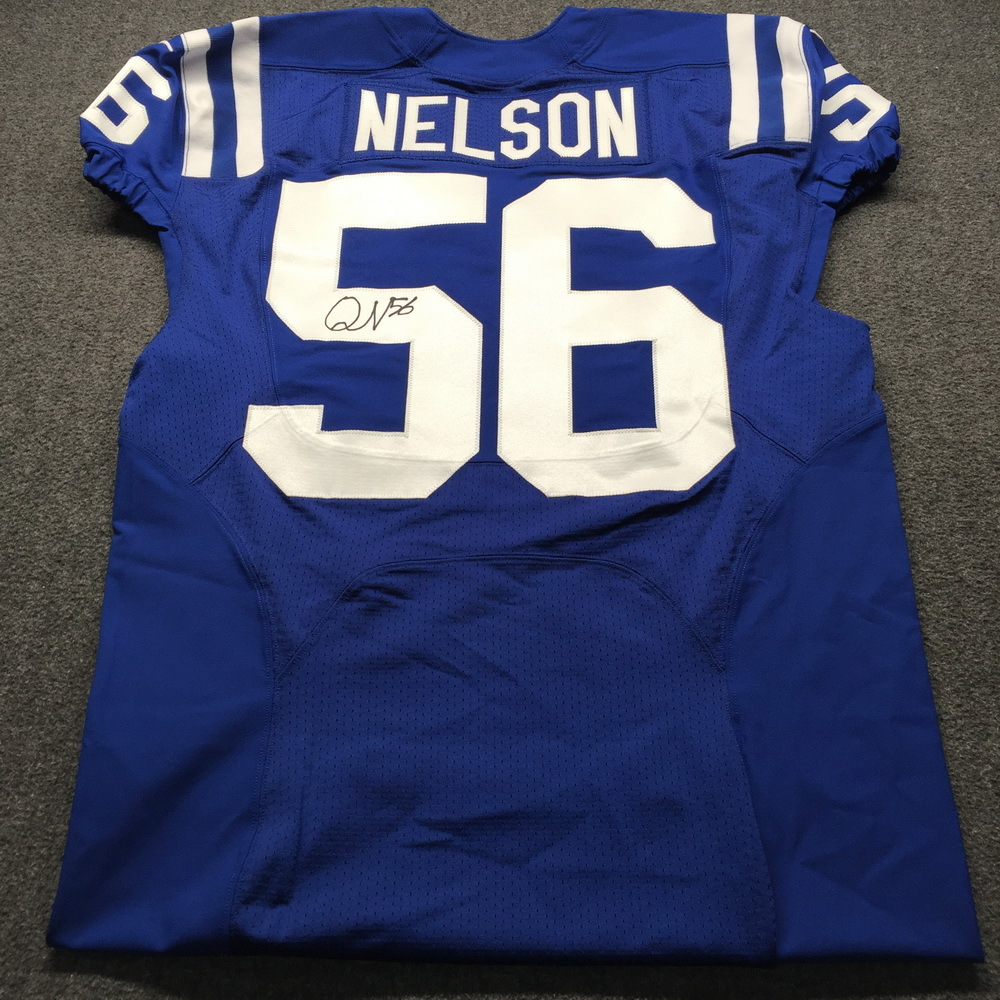 designer fashion 09755 802ad NFL Auction | Crucial Catch - Colts Quenton Nelson Signed ...