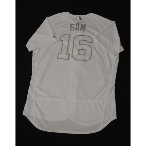 "Photo of Ben ""GAM"" Gamel Milwaukee Brewers Game-Used 2019 Players' Weekend Jersey"