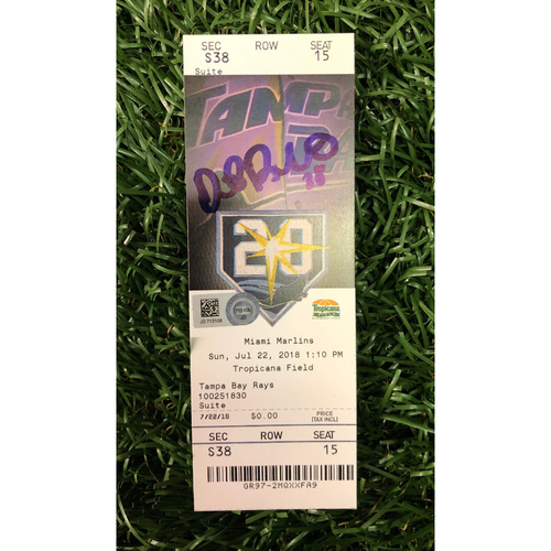 Autographed Game Ticket: Daniel Robertson Walk-Off Grand Slam - July, 22, 2018 v MIA
