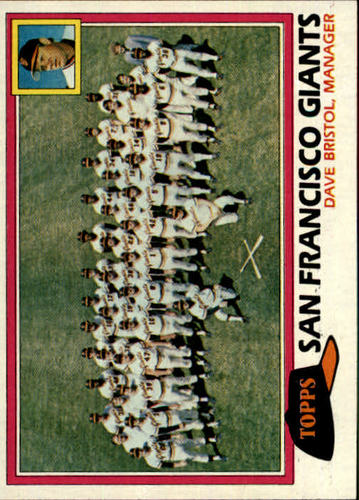 Photo of 1981 Topps #686 Giants Team CL/Dave Bristol MG