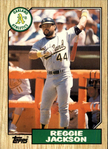 Photo of 1987 Topps Traded #52T Reggie Jackson