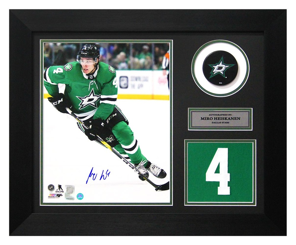 Miro Heiskanen Dallas Stars Autographed Franchise Jersey Number 20x24 Frame