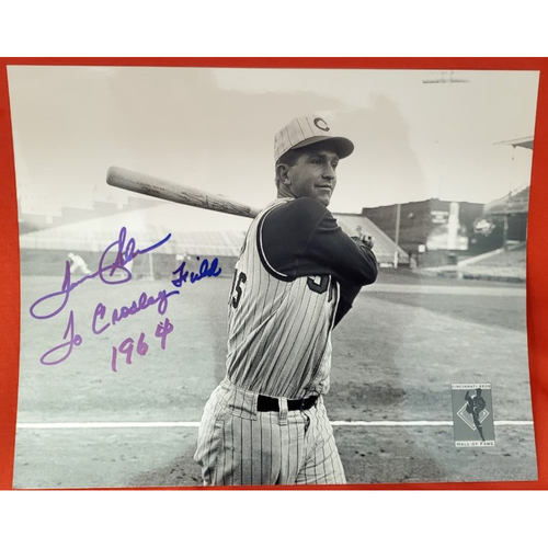 "Photo of Tommy Helms Autographed Photo ""To Crosley Field 1964"""