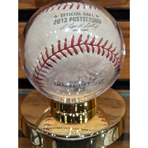 2013 ALCS Game 2 October 13, 2013 Red Sox vs. Tigers Game Used Baseball