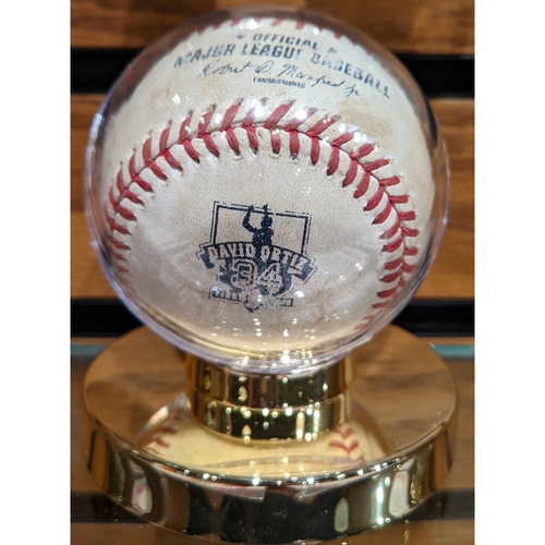 Photo of Red Sox vs. Blue Jays September 30, 2016 Game Used Ortiz Final Season Baseball
