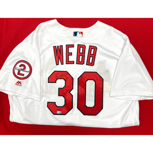 Tyler Webb Autographed Home Jersey w/ Red Patch (Size 48)