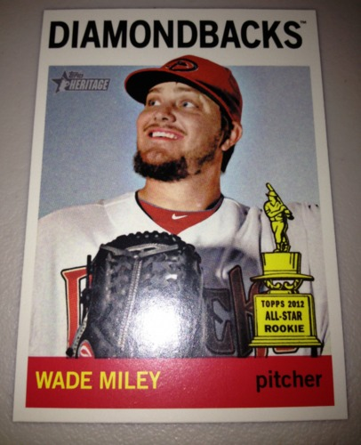 Photo of 2013 Topps Heritage #474A Wade Miley SP