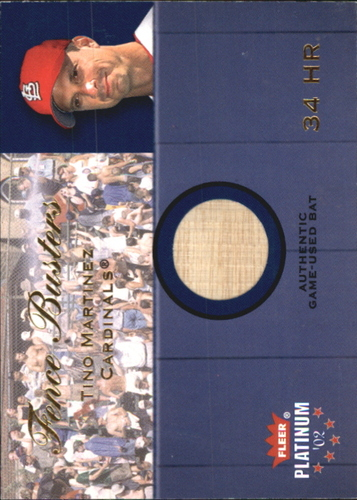 Photo of 2002 Fleer Platinum Fence Busters #14 Tino Martinez/800