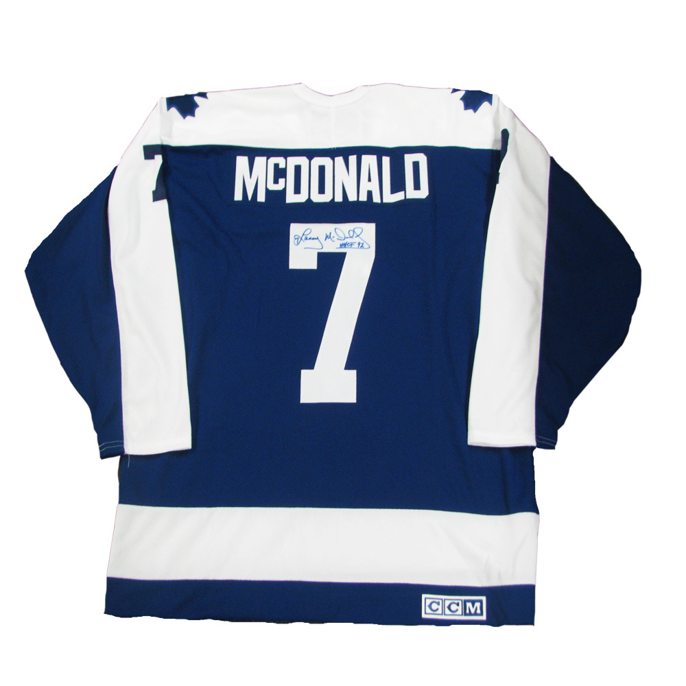 LANNY MCDONALD Signed Toronto Maple Leafs Blue CCM Jersey