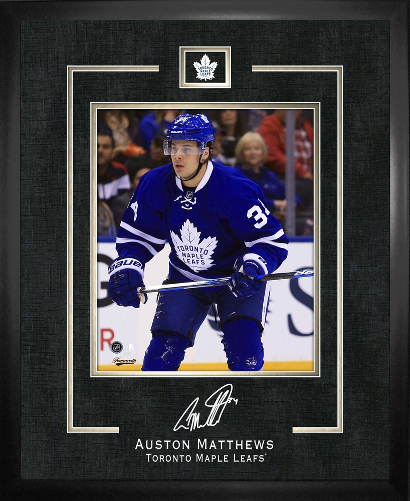 Auston Matthews - Framed Replica Signature Toronto Maple Leafs