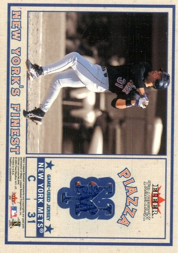 Photo of 2002 Fleer Tradition Update New York's Finest Dual Swatch #3 Roger Clemens Jsy/Mike Piazza Jsy