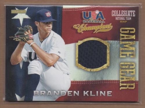 Photo of 2013 USA Baseball Champions Game Gear Jerseys #6 Branden Kline