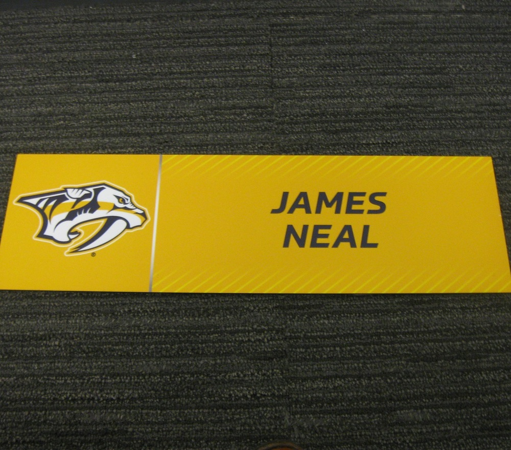 James Neal 2017 Stanley Cup Final Media Name Plate - Nashville Predators