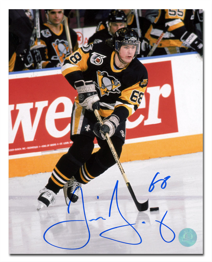 Jaromir Jagr Pittsburgh Penguins Autographed Hockey Playmaker 16x20 Photo