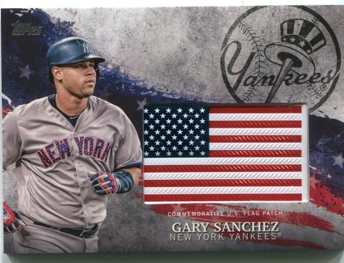 Photo of 2018 Topps Independence Day U.S. Flag Relics #IDMLGA Gary Sanchez