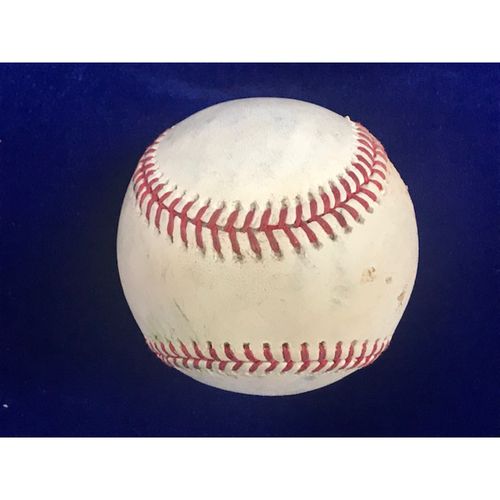 Photo of Game Used Baseball: Mike Trout Double July 25th 2018