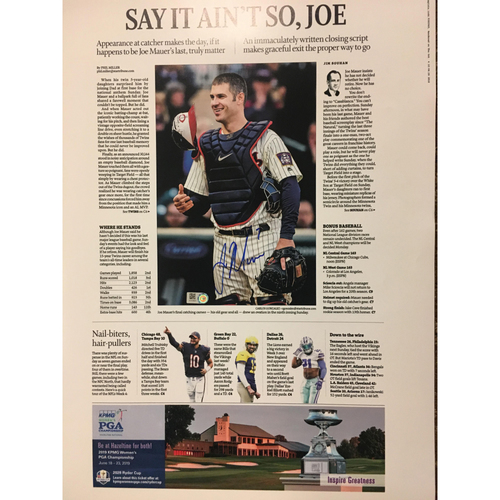 "Photo of ""Say It Ain't So, Joe"" Star Tribune Print"